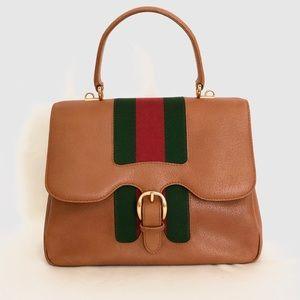 Gucci Vintage Web Kelly top Handle Bag